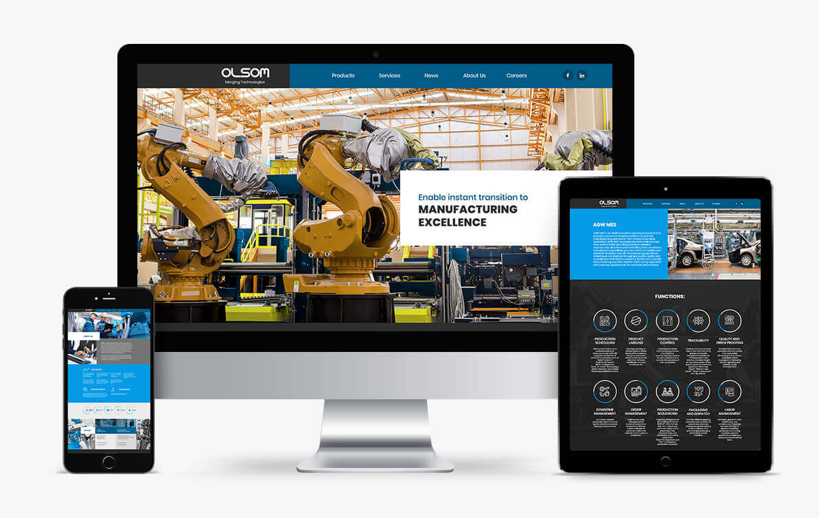 machinery website design