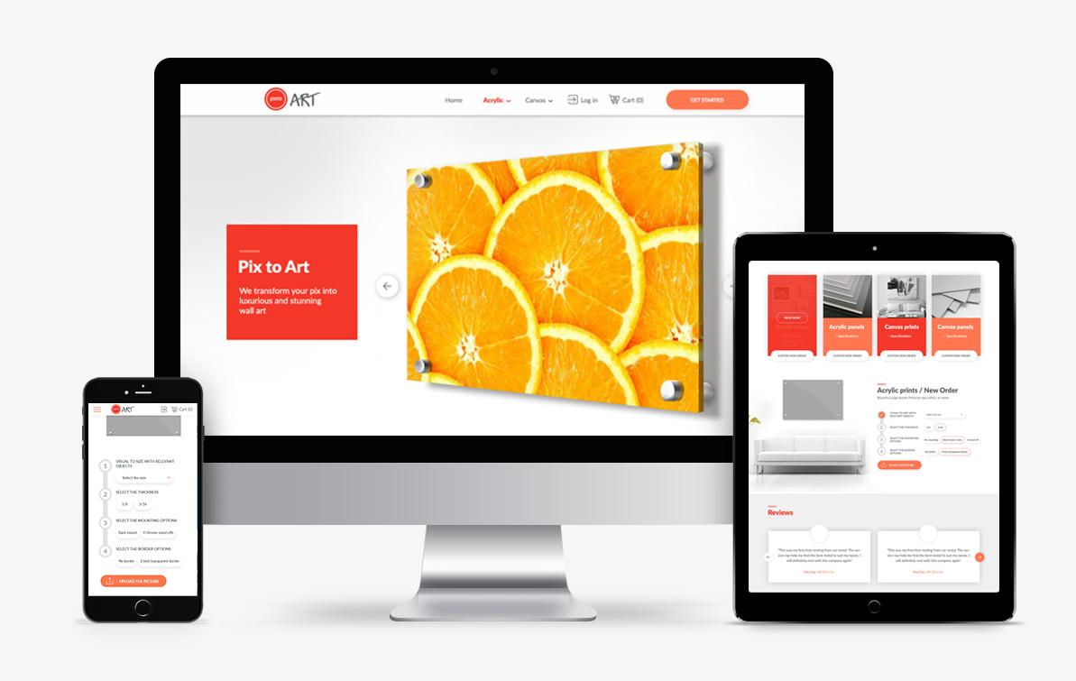 canvas print website design